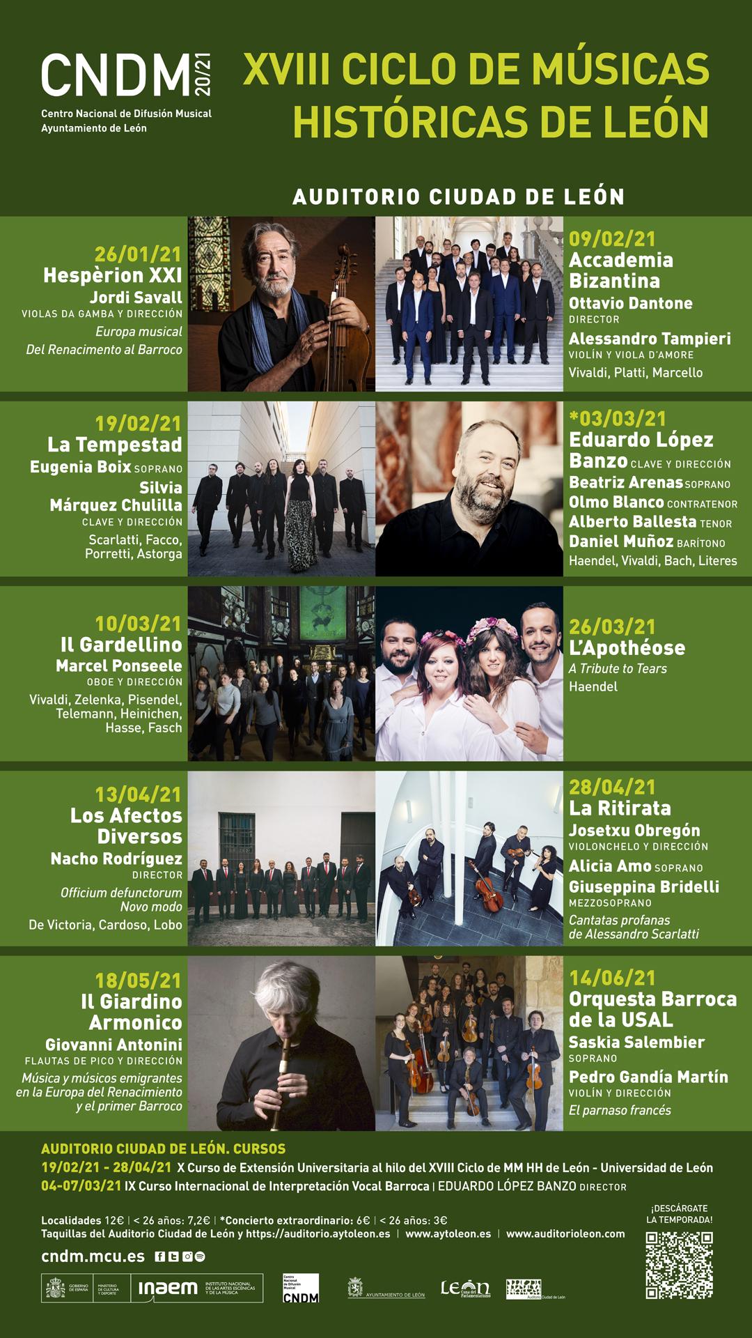 Cartel de la XVIII edición del Ciclo de Músicas Históricas de León